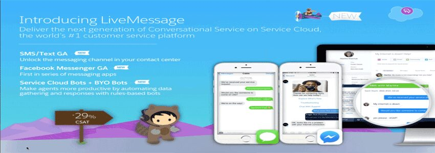 Salesforce's LiveMessage tool for service reps officially launches